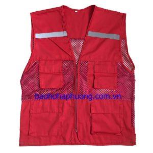 Áo-gile-vải+lưới-to-màu-đỏ